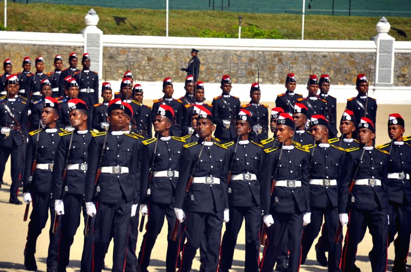 Cadets are seen during a graduation ceremony for 60 army cadet officers at Diyathalawa army camp, Sri Lanka, June 21, 2014.