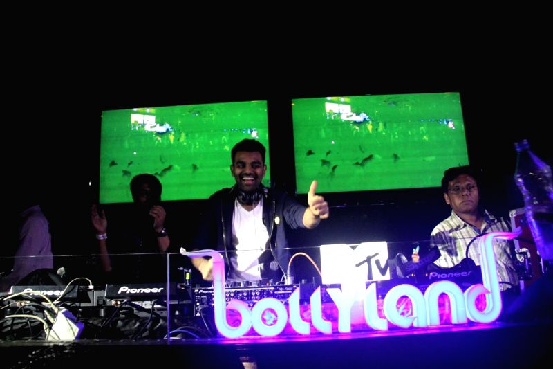 DJ Chetas during LIVE Viacom18`s MTV Bollyland Club Nights celebratation Reel life Bachelor party with glamour and oomph in the Mumbai on June 21, 2014.