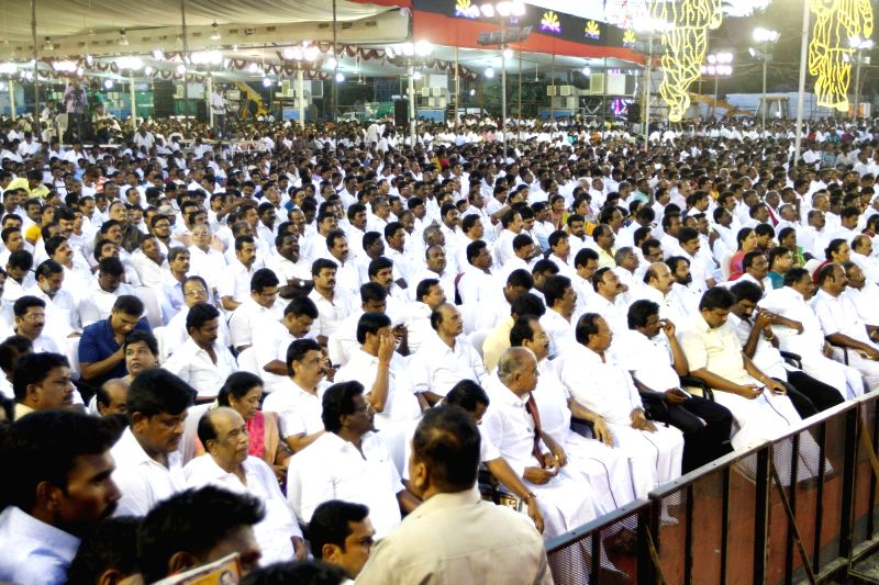DMK chief Karunanidhi's birthday celebrations underway in Chennai on June 3, 2017.