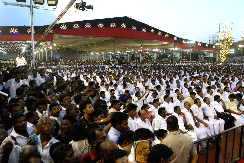 DMK chief Karunanidhi's birthday celebrations underway in Chennai on June 3, 2017.