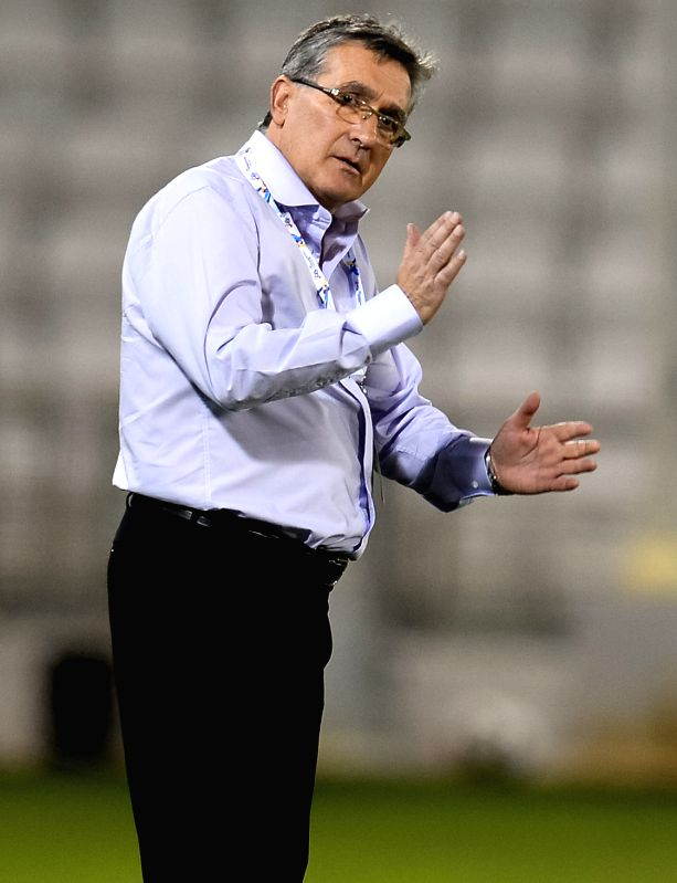 DOHA, May 31, 2017 - Iran's Persepolis FC Head Coach Branko Ivankovic reacts during the AFC Champions League round 16 football match between Qatar's Lekhwiya club and Iran's Persepolis FC at the ...