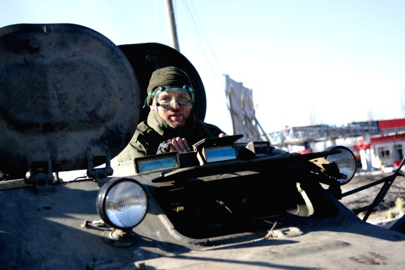 A local militia fighter is seen in a NPS in Debalcevo in Donetsk, Ukraine, on Feb, 21, 2015. UN Secretary-General Ban Ki- moon said on Friday that the UN would ...