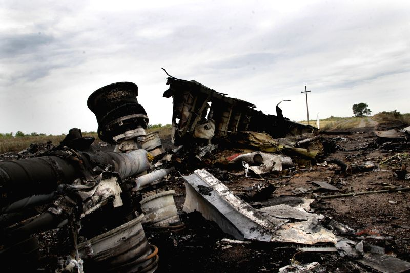 Photo taken on July 18, 2014 shows the debris at the crash site of MH17 of Malaysian Airlines near the city of Shakhtarsk in Ukraine's Donetsk region. Malaysian ... - Liow Tiong Lai