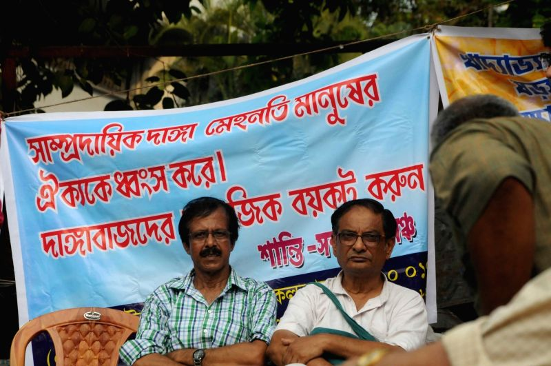 Dr Binayak Sen during a meeting called to discuss the government notification restricting Cattle Trade in Kolkata on June 14, 2017.