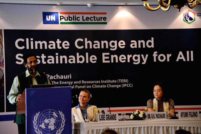 Dr. R K Pachauri, DG TERI and Chairman of the IPCC was delivering the third United Nations Public Lecture in New Delhi on June 28, 2014.