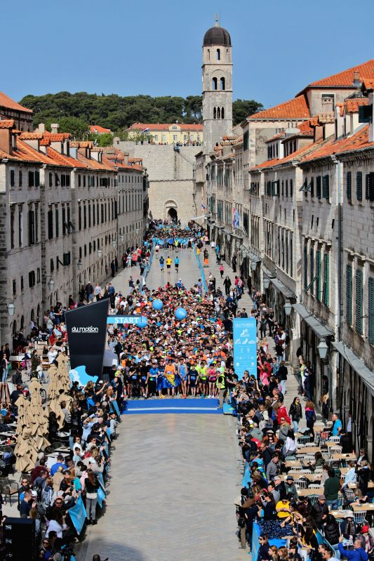 DUBROVNIK, April 30, 2017 - Runners wait for the start of the Dubrovnik Half Marathon Race in Dubrovnik, coast city of Croatia, April 30, 2017.