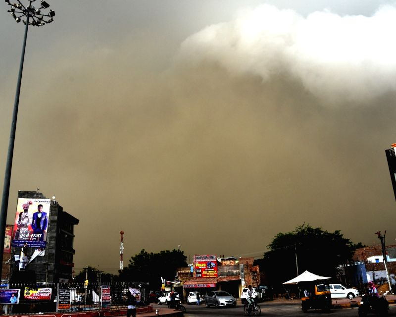 Dust storm hits Bikaner, on July 13, 2018.