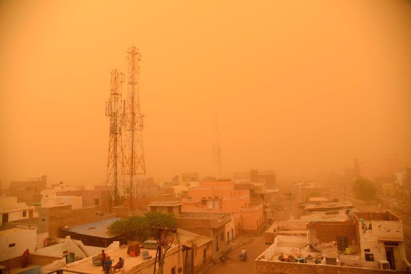 Dust storm hits Bikaner, on June 10, 2018.