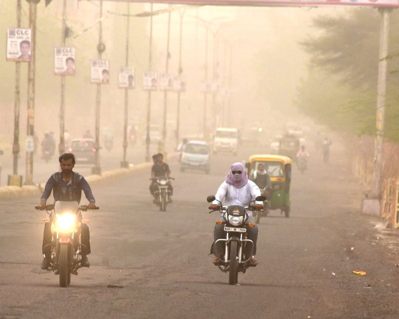 Dust storm hits Bikaner on May 11, 2017.