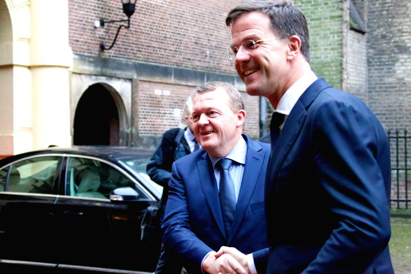 Dutch Prime Minister Mark Rutte (R) meets with visiting Danish Prime Minister Lars Loekke Rasmussen in Hague, the Netherlands, on Nov. 24, 2015. The meeting focused ... - Mark Rutte
