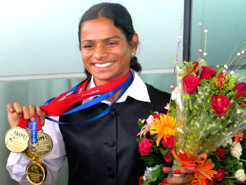 Dutee Chand was felicitated at KIIT campus upon her arrival in Bhubaneswar on June 17, 2014. Dutee, who is a student of KIIT Law School, won double gold – women's 200 m and 400 m x 4 relay - in ..