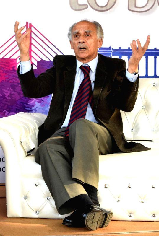 Economist, journalist, author and politician Arun Shourie during Kolkata Literary Meet 2018 in Kolkata on Jan 27, 2018.