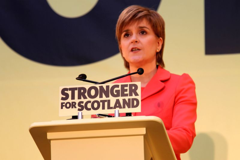Nicola Sturgeon, Scottish National Party (SNP) leader and Scottish First Minister, speaks during a ceremony to launch SNP's general election manifesto in ...
