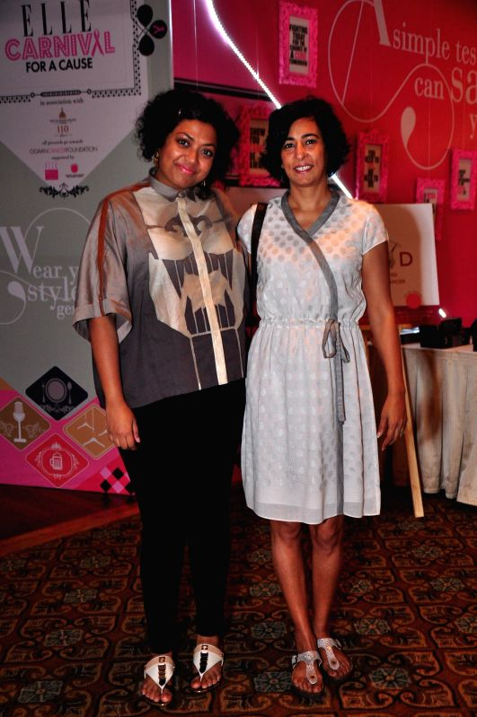 Editor, ELLE India Aishwarya Subramanyam  and Archana Pillai during ELLE Carnival for a Cause 2014 event in Mumbai on 18 May 2014.