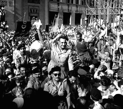 Egyptian leader Gamal Abdel Nasser, a day after an assassination bid on him in 1954