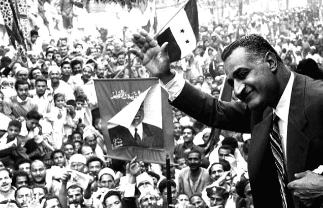 Egyptian leader Gamal Abdel Nasser, who was most happy to be among or interact with his countrymen
