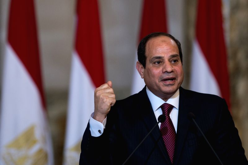 Egyptian President Abdel Fattah al-Sisi speaks after the signing ceremony held in the presidential palace in Cairo, Egypt, on Nov. 19, 2015. Egypt and Russia signed ...