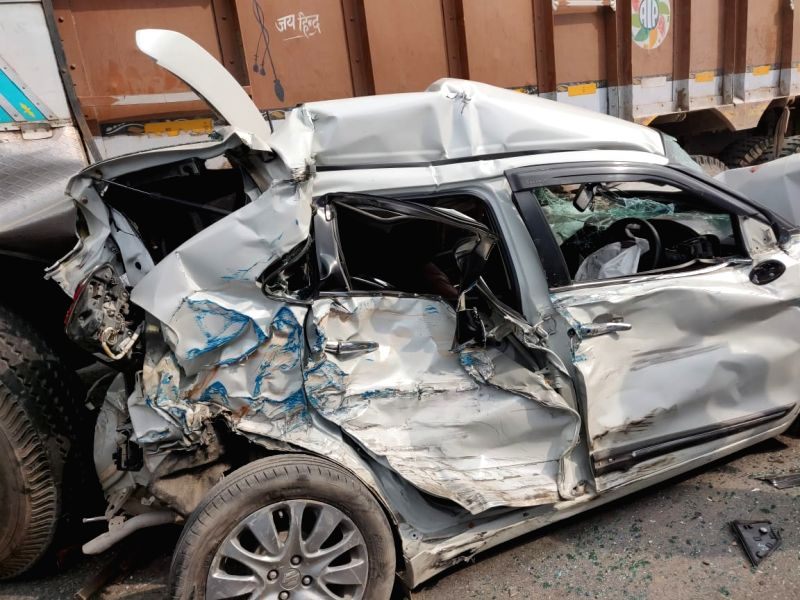 Eight people were injured following a collision between a truck and a bus, in New Delhi on Aug 11, 2018. the collision on Outer Ring Road near the Pitampura area, other vehicles, including ...