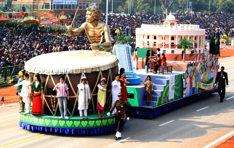 Election Commission's tableaux at the Republic Day Parade in New Delhi.