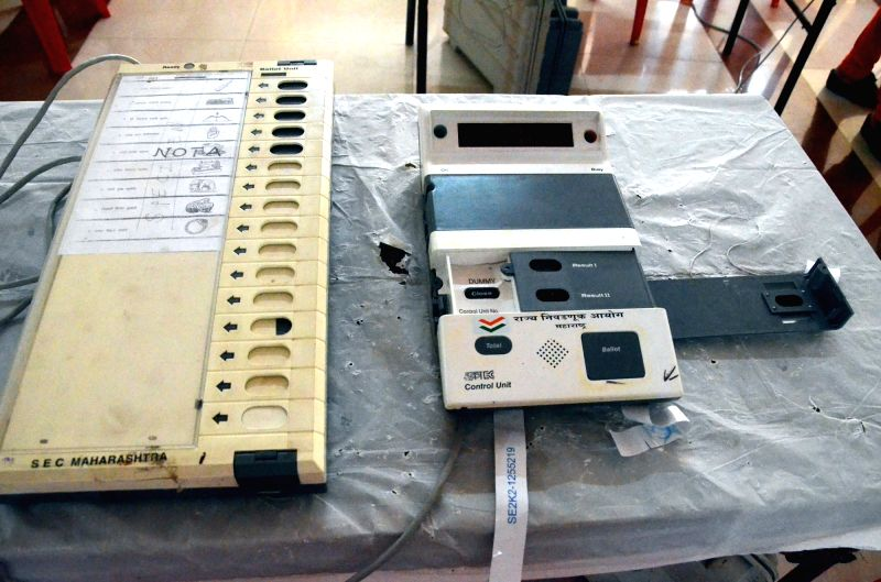 Electronic Voting Machines. (File Photo: IANS)(Image Source: IANS News)