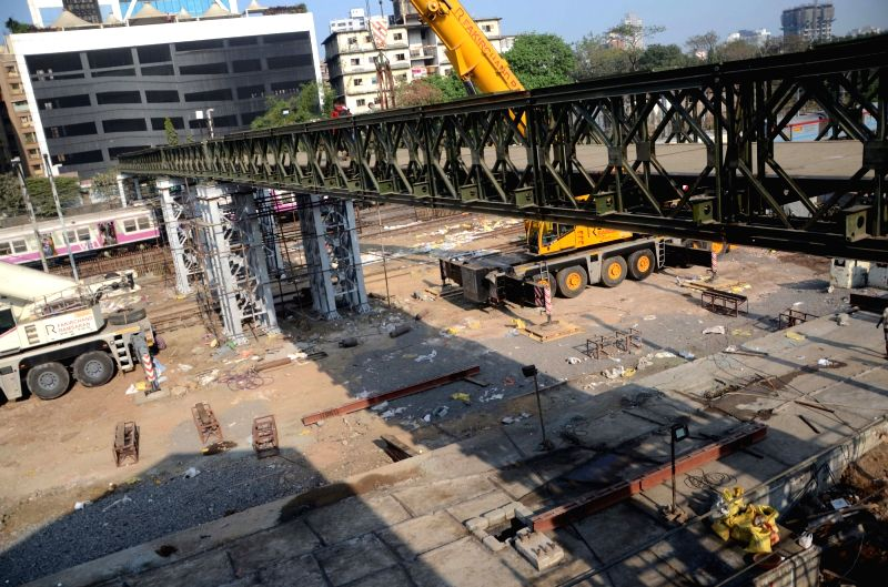 Elphinstone bridge construction underway in Mumbai, on Jan 28, 2018.