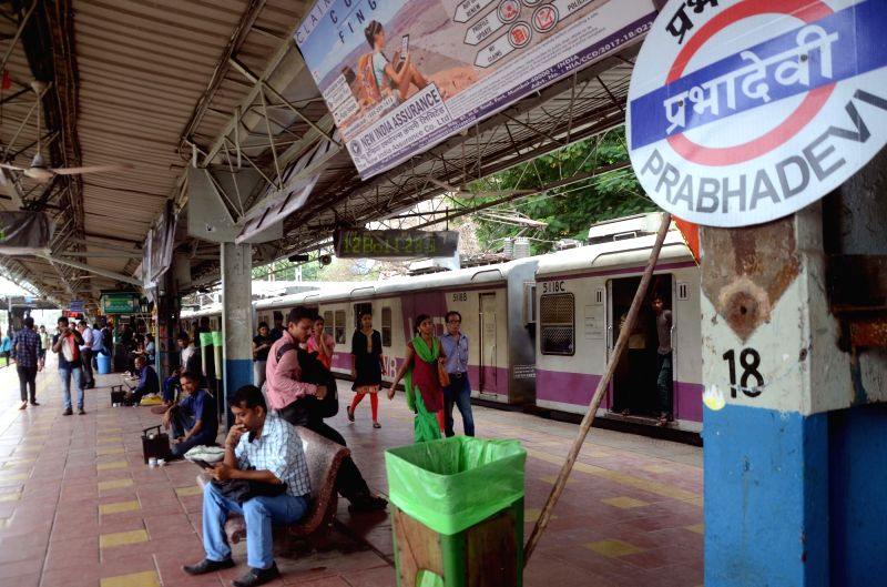 "Elphinstone Road"" railway station renamed as ""Prabha Devi"" in Mumbai, on July 19, 2018."