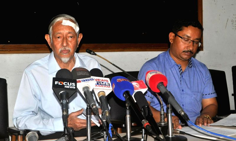 Eminent critic and social activist Dr. Hiren Gohain addressing a citizen meet at Guwahati Press Club on May 3, 2014, regarding the brutal killing of the innocent people in the BTAD area of Assam.