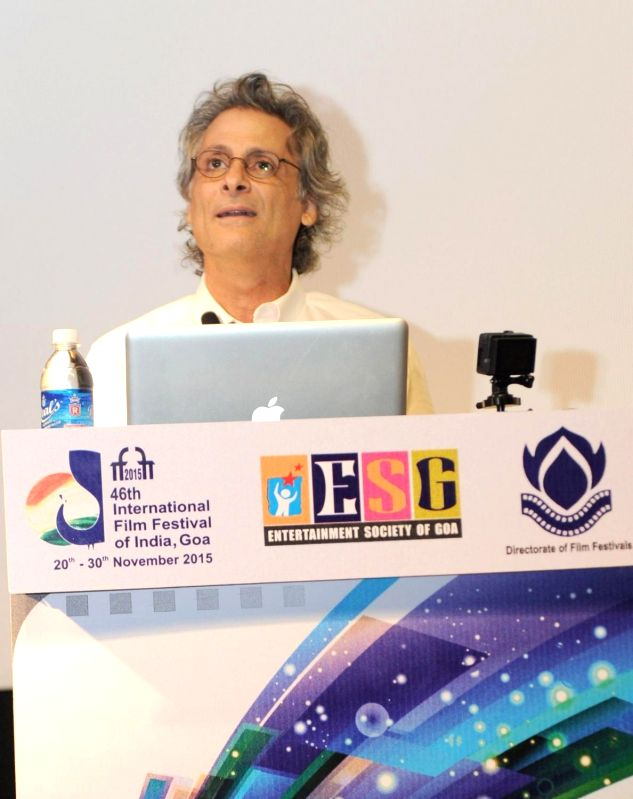 Eminent Hollywood Sound Designer Mark Mangini, at the 46th International Film Festival of India (IFFI-2015), in Panaji, Goa on Nov 22, 2015.