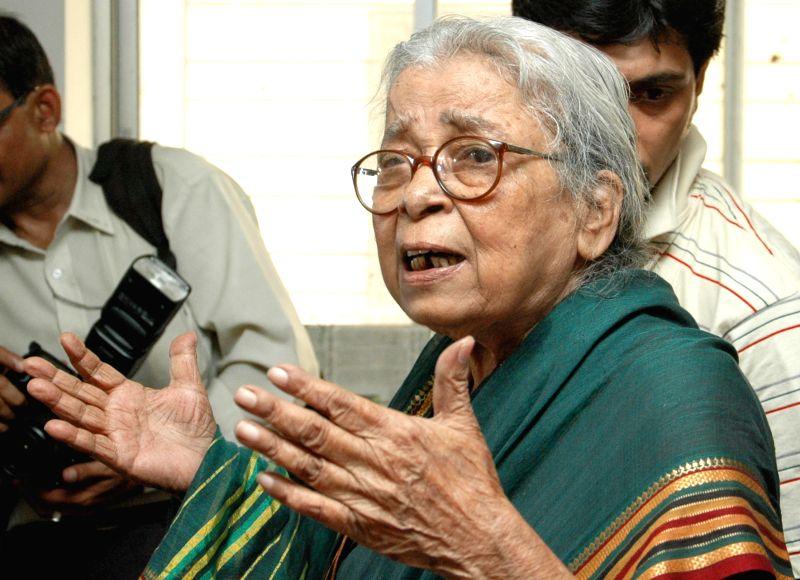 Eminent writer and social activist Mahasweta Devi (90) passes away following prolonged illness in Kolkata on July 28, 2016. (File Photo: IANS)