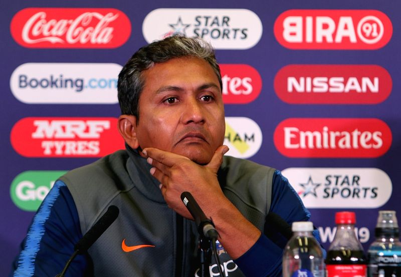 England: Indian cricket team's batting coach Sanjay Bangar addresses a press conference ahead of the 2019 World Cup match against New Zealand, at Trent Bridge Cricket Ground in Nottinghamshire, England on June 12, 2019. (Photo: Surjeet Yadav/IANS)