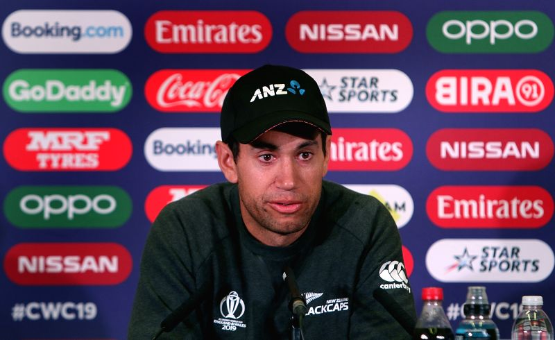 England: New Zealand cricketer Ross Taylor addresses a press conference ahead of the 2019 World Cup match against India, at Trent Bridge Cricket Ground in Nottinghamshire, England on June 12, 2019. (Photo: Surjeet Yadav/IANS)