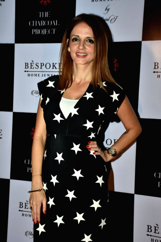 Entrepreneur Sussanne Khan, former wife of actor Hrithik Roshan at a store launch in Mumbai on April 13, 2018 . - Hrithik Roshan and Sussanne Khan