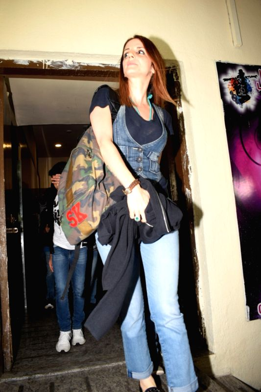 Entrepreneur Sussanne Khan, former wife of actor Hrithik Roshan seen at a cinema theatre in Mumbai on June 13, 2018. - Hrithik Roshan and Sussanne Khan