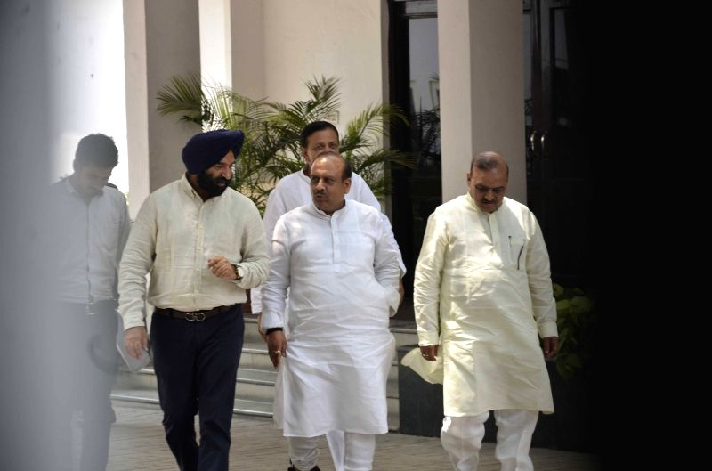 er of Opposition in Delhi Assembly Vijender Gupta comes out after meeting Delhi Lieutenant Governor Anil Baijal at Raj Niwas in New Delhi, on May 8, 2017. - Assembly Vijender Gupta