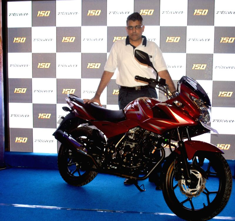 Eric Vas of Bajaj  during launch of `New Discover 150` in Guwahati on Aug 26, 2014.