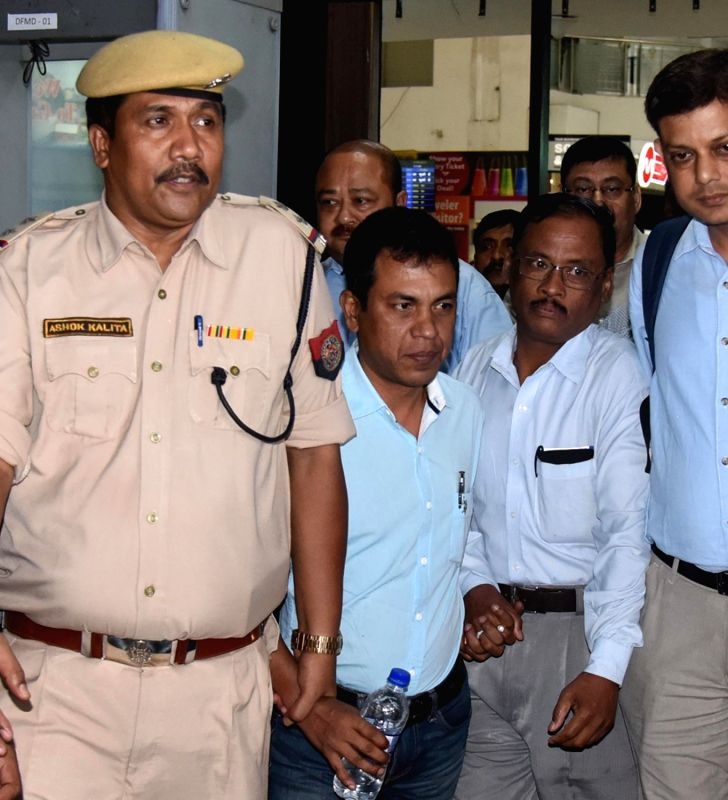 Excise superintendent Amarendra Nath who was brought to Guwahati from Delhi by CID team in connection with the multi-crore rupees BG bonded warehouse scam on June 12, 2017. - Amarendra Nath