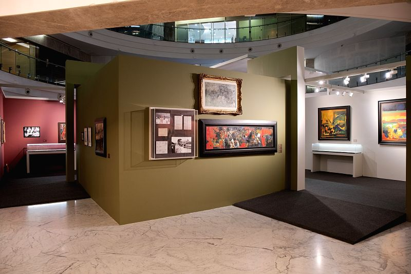 Exhibition on Raza at Piramal Museum of Art. (Photo Courtesy: Piramal Museum of Art, Mumbai)