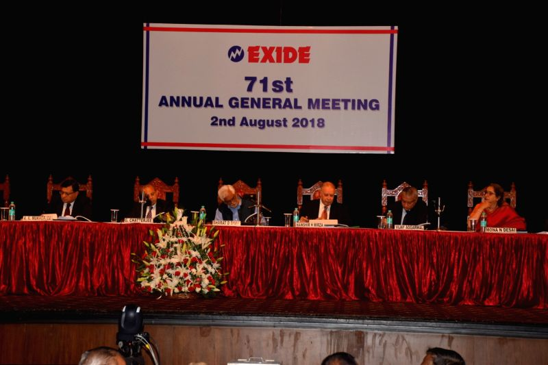 Exide Industries Board of Directors at the company's 71st Annual General Meeting (AGM) of, in Kolkata, on Aug 2, 2018.