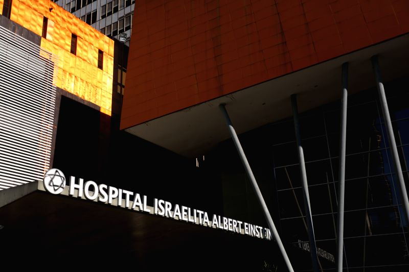 Exterior view of the Albert Einstein Hospital, where Joe Jackson, father of the late Michael Jackson is hospitalized in the intensive care unit, in Sao Paulo, ...