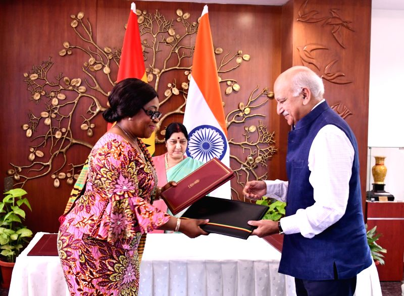 External Affairs Minister Sushma Swaraj witnesses Exchange of Agreements between India and Ghana during the visit of Ghana's Foreign Affairs and Regional Integration Minister Shirley ... - Sushma Swaraj