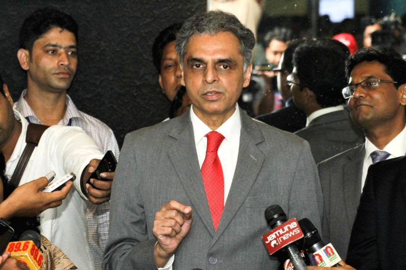 External affairs ministry spokesperson Syed Akbaruddin addresses press in Dhaka, Bangladesh on June 27, 2014.