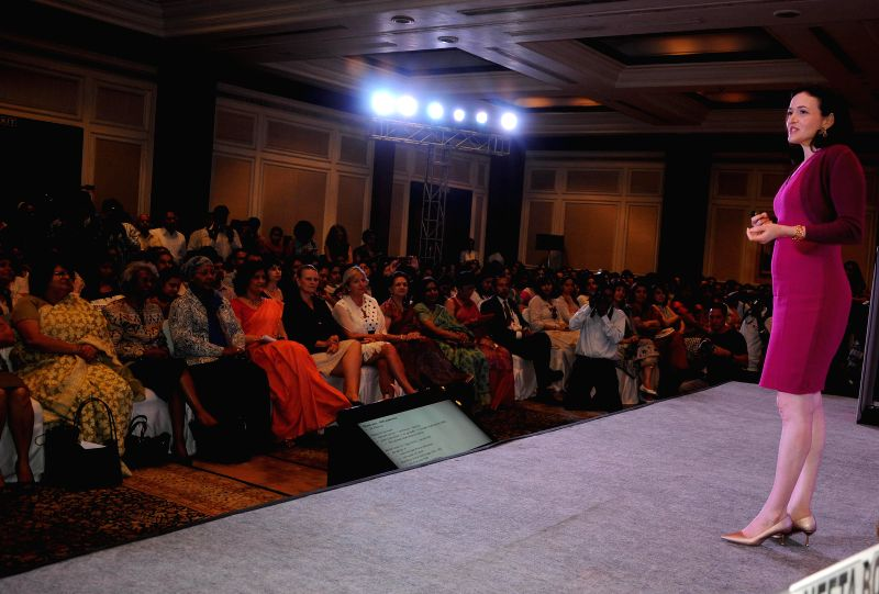 Facebook COO Sheryl Sandberg during a programme in New Delhi on July 2, 2014.