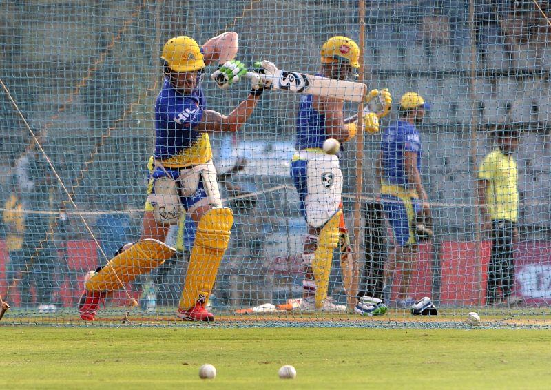 IPL 2018 - Practice session - Chennai Super Kings -  Faf du Plessis, Suresh Raina