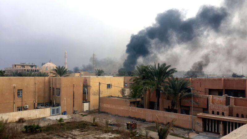 Heavy smoke rises after clashes between the Islamic State militants and Iraqi security forces in Fallujah, some 50 km west of Baghdad, Iraq, Jan. 30, 2015. ...