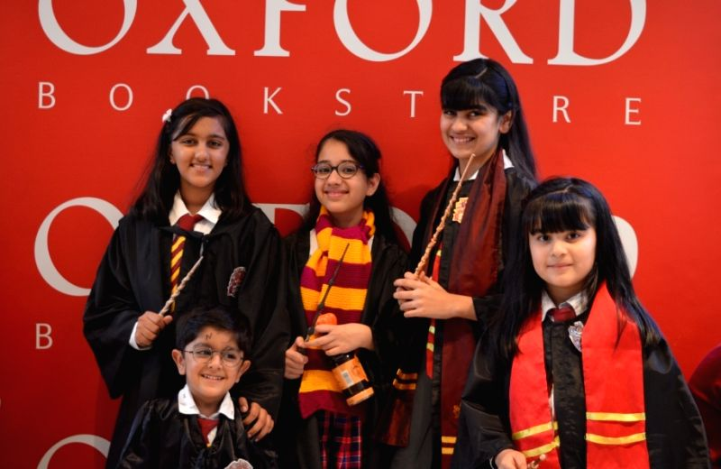 Fans dressed as characters in the Harry Potter series. (Source: Oxford Bookstore)