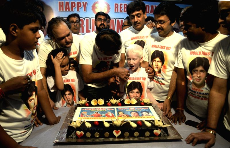 "Fans of actor Amitabh Bachchan celebrate the day of his recovery from the fatal accident that he met while shooting for his film ""Coolie""; in Kolkata on Aug 2, 2018. - Amitabh Bachchan"