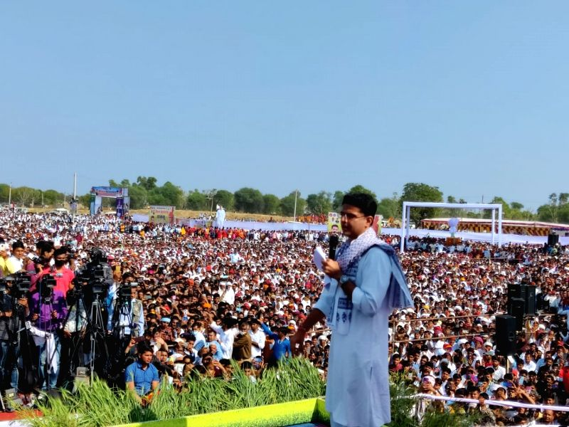 Farm laws against farmers, Sachin Pilot says at large Kisan Mahapanchayat