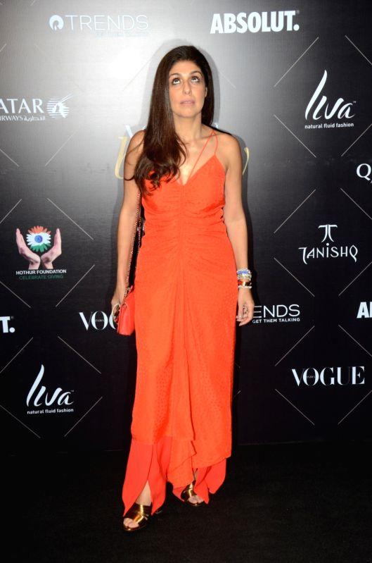 "Fashion designer Anaita Adajania at the red carpet of ""Vogue Beauty Awards"" in Mumbai on July 31, 2018."