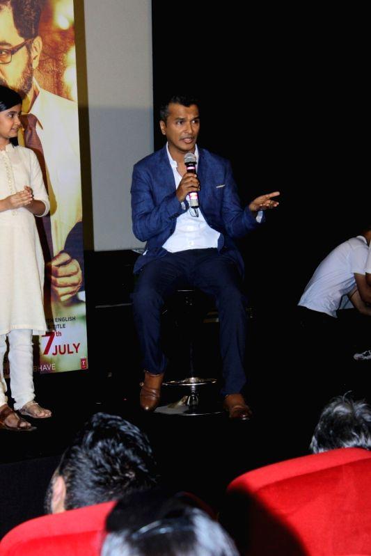 Fashion designer and filmmaker Vikram Phadnis during the trailer launch of Marathi film Hrudayantar in Mumbai on May 28, 2017.