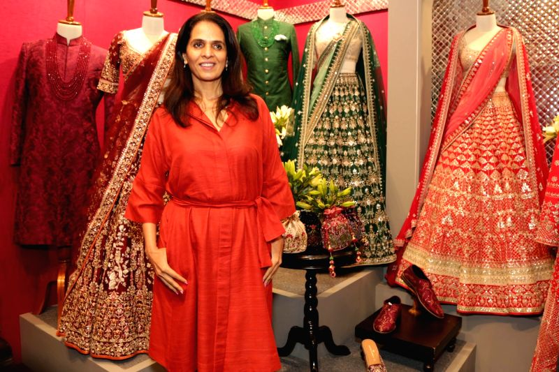 Fashion designer Anita Dongre at sixth edition of Vogue Wedding Show 2018 in New Delhi, on Aug 3, 2018.